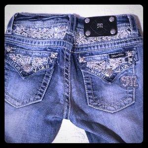 Miss Me GIRLS Fancy Boot Cut Jeans sz 10